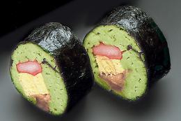 本格そば寿司/抹茶 5本×4袋   【冷凍】